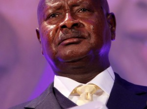El Presidente Museveni durante una cumbre en Londres
