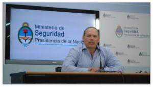 El secretario de Seguridad argentino, Sergio Berni . Ministerio de Seguridad de Argentina
