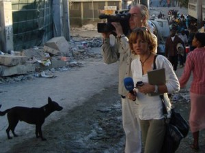 Almudena Ariza. Enviada especial de TVE a Haití en 2010
