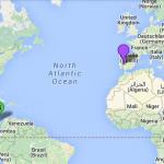 Mapa mundi que señala las dos partes del conflicto.