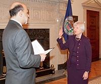 Yellen, nueva presidenta de la Reserva Federal.