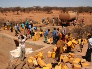 Distribución de comida en África