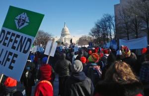 """La """"Marcha por la Vida"""" de Washington alcanzó el miércoles su 40ª edición."""