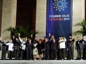 Los mandatarios de la CELAC en La Habana. Reuters