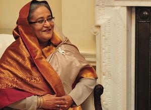 Sheikh Hasina, primera ministra de Bangladesh, vencedora en las elecciones del 5 de enero de 2014