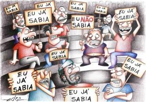 Viñeta de Edra sobre el caso de corrupción conocido como Mensalao