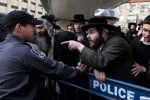 Manifestación de ultraortodoxos judíos