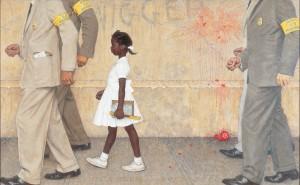"""""""El problema con el que todos vivimos"""", de Norman Rockwell. Cedidas por la Fundación Roma Museo - Palazzo Sciarra que organiza la exposición."""