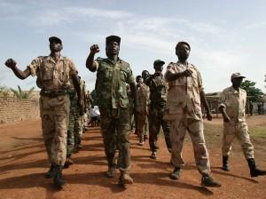 Rebeldes en el norte de Centroafrica en 2007