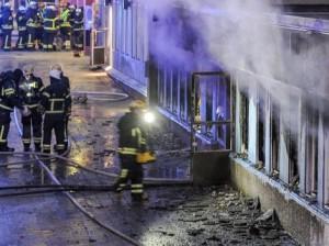 Incendio de mezquita en Suecia