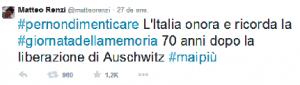Tuit Matteo Renzi