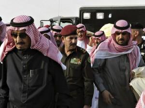 El rey Salman durante el funeral del fallecido rey Abdalá/ EFE