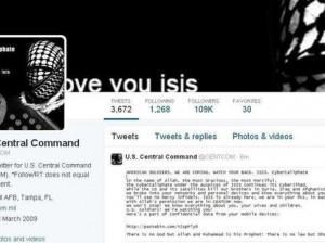 Captura de la página de la cuenta de Twitter del Comando Central de EE.UU.