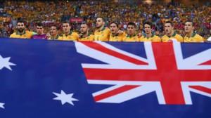La selección australiana de fútbol antes de comenzar el partido/Getty Images