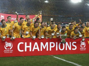 "Celebración del campeón de Asia ""The Socceroos""/ Getty Images."