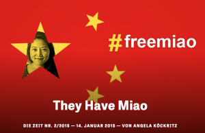 Cabecera del relato de Angela Köckritz sobre la detención de su asistente Zhang Miao.