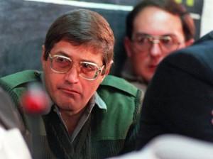 Eugene de Kock comparece ante la Comisión de Verdad y Reconciliación en Pretoria. Julio de 1998. Foto: Walter Dhladhla (AFP)