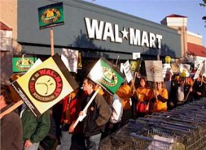 Protestas ante una tienda Wal-Mart / Neon Tommy (cc)