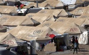 Campos de refugiados sirios en Líbano. Fuente: El Mundo.es