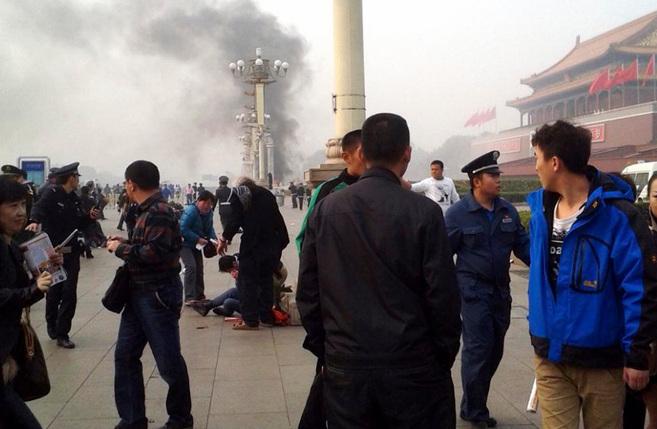 El MITO atenta en la plaza de Tiananmen en el año 2013 con centenares de personas presentes. (Fuente: Reuters)