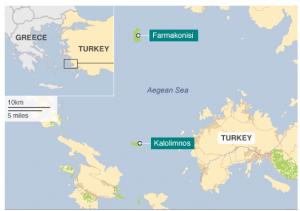 Situación de las Islas Griegas en el mapa