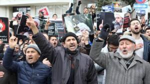 Manifestación en rechazo a las ejecuciones en Arabia Saudita