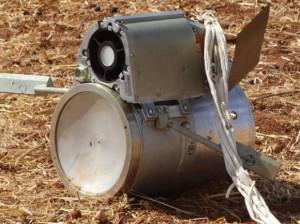 La bomba hallada en Kafr Halab, Siria, el 6 de octubre, está prohibida por la Convención sobre Municiones en Racimo Crédito: Shaam News