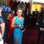 Brie Larson, ganadora del Premio del Sindicato a mejor actriz protagonista, en la 22 edición de los SAG Awards