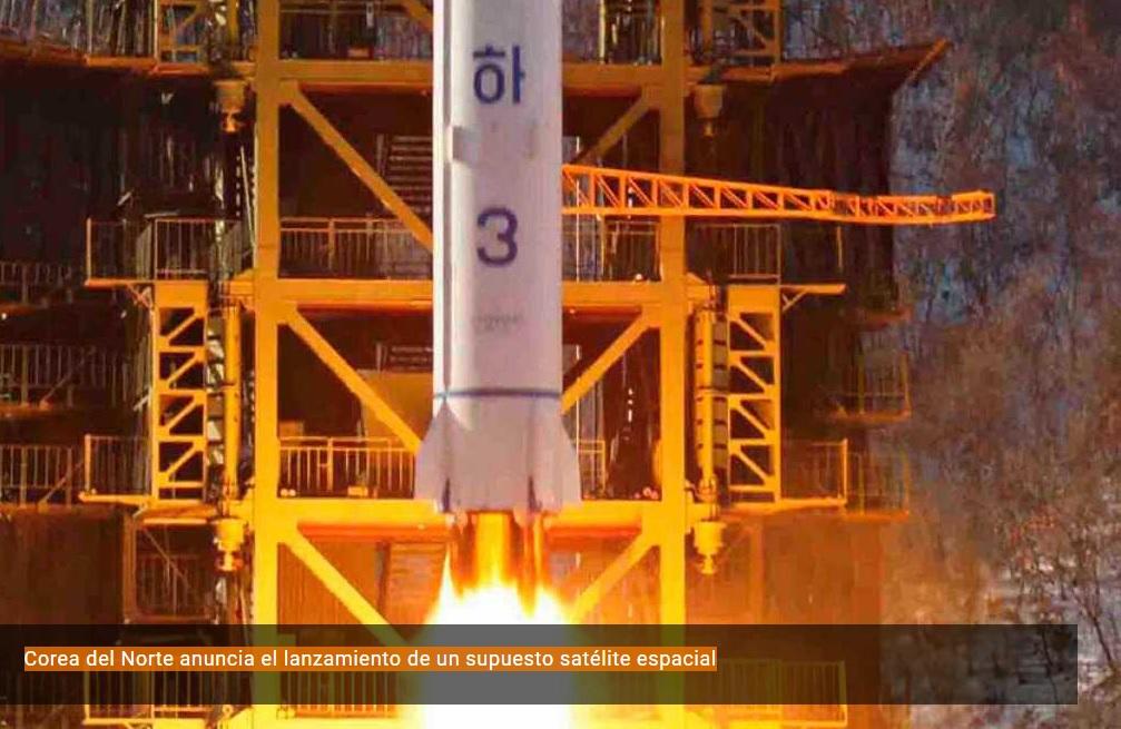 Corea del Norte anuncia el lanzamiento de un supuesto satélite espacial. RTVE