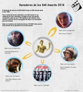 Ganadores SAG Awards 2016 - Cine