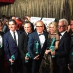 El reparto de 'Spotlight' con los galardones a mejor elenco en la categoría de cine