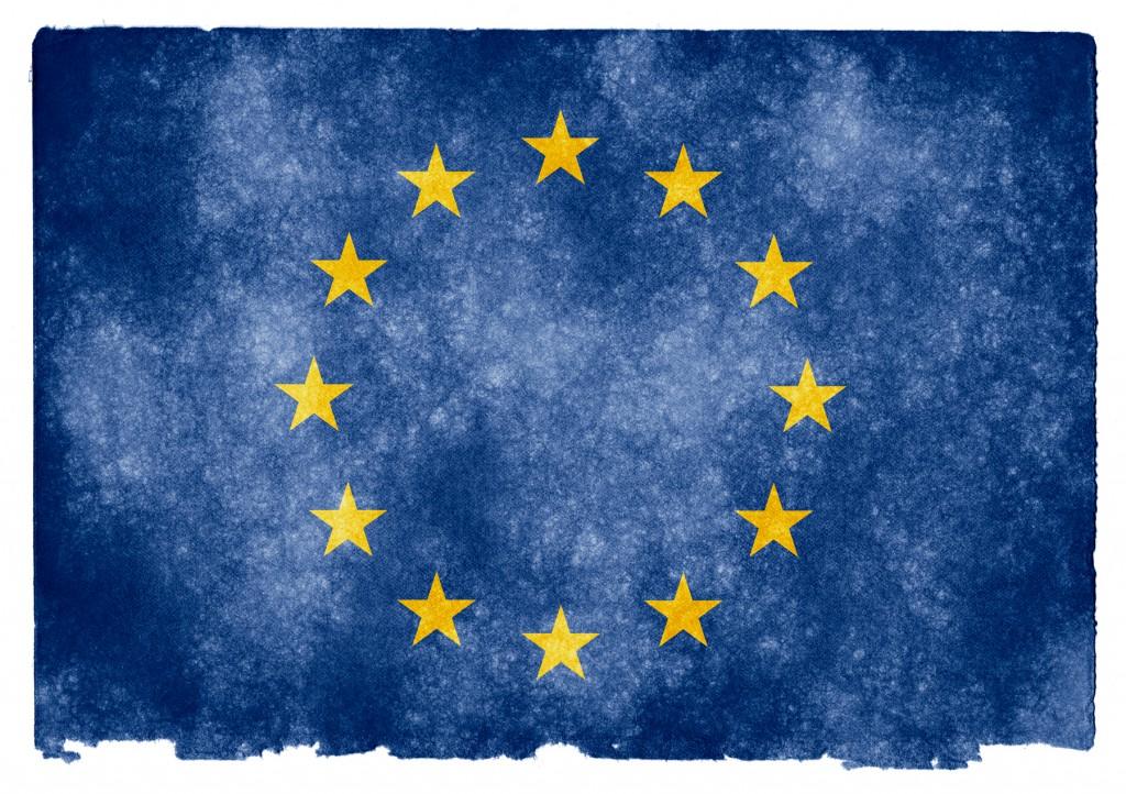 bandera UE vintage