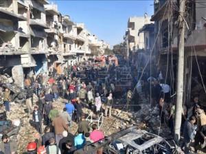 La ciudad de Homs en ruinas