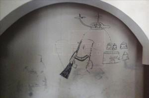Fuente: EFE. Dibujo en una pared de los planes de Boko Haram.