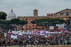 El Circo Massimo de Roma, durante la movilización celebrada la semana pasada en contra del proyecto de ley sobre uniones civiles. EFE