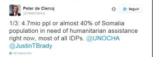 El coordinador humanitario de Naciones Unidas en Somalia, Peter de Clerq, informa sobre la situación