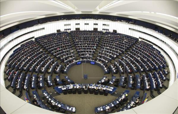 Vista de la Cámara durante el pleno del Parlamento Europeo en Estrasburgo (Francia). EFE