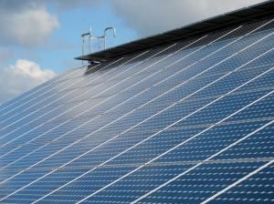 Placa fotovoltaica de la planta energética Noor1 en el sur de Marruecos
