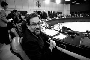 Javier Solana, ministros de Asuntos Exteriores español en la cumbre Roma (1991).