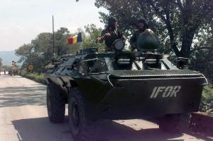 Fuerzas de paz de la OTAN en Bosnia-Herzegovina (diciembre 1995). Foto: SGT Vernell Hall