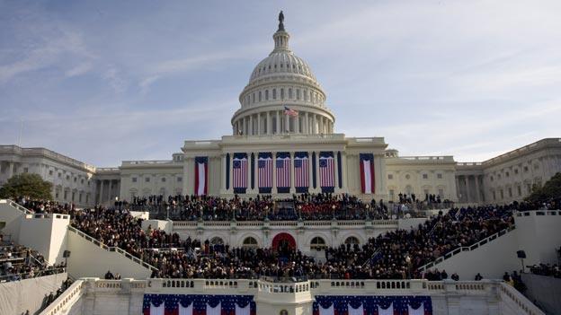 1,8 millones de personas abarrotaron el Capitolio de EE.UU. durante la investidura de Barack Obama en 2009 - Fuente: Wikipedia