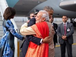El primer ministro indio, Narendra Modi, se despide de Obama en su visita a EE. UU. a comienzos de 2015