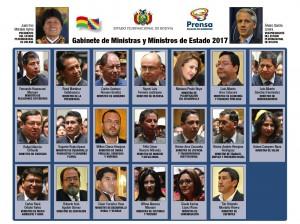 El nuevo gabinete ministerial de Bolivia. Fotografía: Ministerio de Presidencia