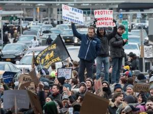 Protestas en el JFK