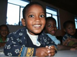 Niños etíopes en uno de los centros de acogida del país