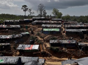 FILE PHOTO - A Rohingya refugee camp is seen in Cox's Bazar