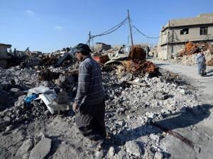 Una de las zonas destruidas de Mosul este enero. La ciudad de Mosul (norte) fue la ciudad más poblada que estuvo bajo el control del EI y una de las más afectadas por la batalla para su liberación, que culminó el pasado julio.