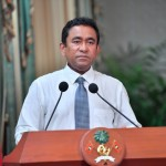 El presidente maldivo Abdulla Yameen da su discurso a la nación / Fuente: Mihaaru