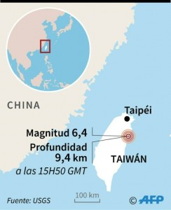 Seísmo en Taiwán